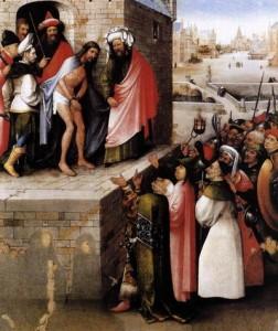 картина Босха Ecce Homo с донаторами