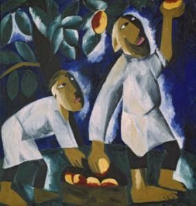 Наталья Гончарова Крестьяне, собирающие яблоки