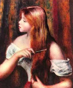 Ренуар - Причесывающаяся девушка