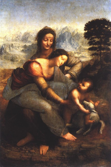 Леонардо да Винчи Святая Анна с Марией и  младенцем Христом