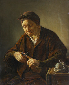 V._Tropinin._Nail_cutting_woman