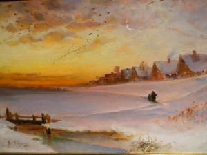 Саврасов  - Зимний пейзаж