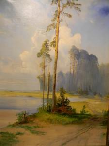 Саврасов - Летний пейзаж. Сосны.