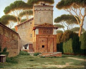 1816_Eckersberg_Pförtnerhaus_im_Park_der_Villa_Borghese_in_Rom_anagoria