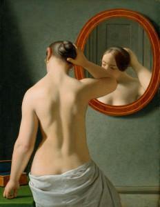 C_W_Eckersberg_1841_-_Kvinde_foran_et_spejl