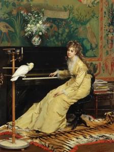 110041992_Gyustav_Leonard_de_Yonge__18291893__ZHenschina_u_pianino_s_popugaem_1870